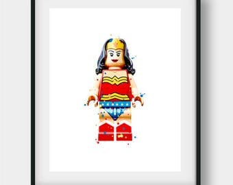 Wonder Woman Wall Art wonder woman print | etsy