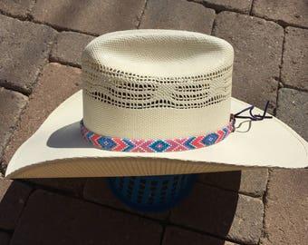 Custom Beaded Hat Band