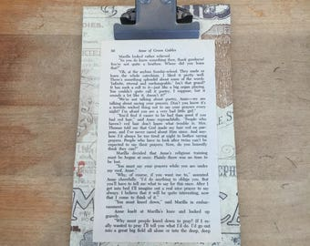 Clipboard with Anne of Green Gables pg 50