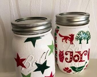 Emma Bridgewater hand decorated mason jar, star, stars, home decor, candle holder, decoration, home, candlejar, makeupbrushes