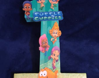 16in Number 1 party prop. Bubble Guppies theme.