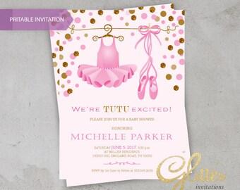 little ballerina baby shower baby shower invitation tutu ballerina shoes