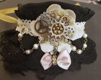 Handmade Steampunk Lace Bracelet