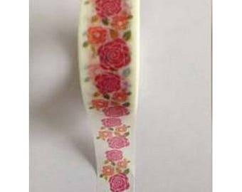 Washi Tape Masking Tape Ribbon tape 10 m pink red and ORANGE