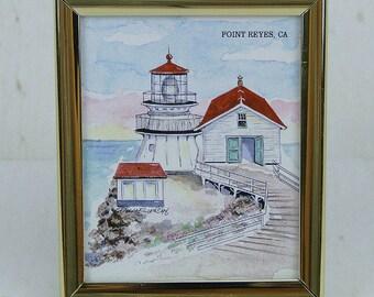 Donna Elias Souvenir Magnet Point Reyes, CA Lighthouse Resort Graphics