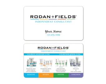 Rodan + Fields Business Cards WHITE