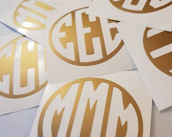 Gold Custom Monogram Sticker