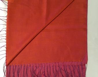 Pink and orange scarf, double face scarf ,shawls ,scarfs ,Turkish  scarf ,Turkish shawl .