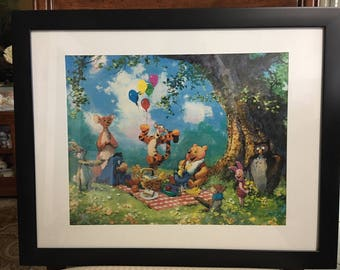 "Framed, Matted ""Splendiferous Picnic"" Limited Edition Lithograph by James Coleman, Numbered and Hand Signed with COA!"