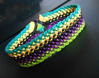 Bracelet 5 color woven with cotton thread
