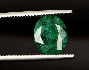 2.60 ct Natural Colombian Emerald Gemstone Faceted Emerald Cut 100% Natural Emerald Green Color Loose Stone Cab Handmade Good Making AO-269