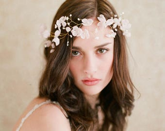 3D Flower Hair Vine/ Wedding Hair Vine / Wedding Hair Accessory