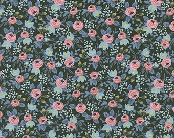One Yard Cut - Rosa in Hunter - Menagerie by Rifle Paper Company (Cotton + Steel for RJR Fabrics) -  Quilters Cotton