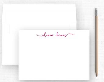 Minimalist Personalized Stationery (Sets of 10) / Your Choice Ink Color / Personalized Stationery / Modern Minimalist / Minimalist