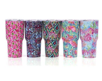 Lilly inspired tumbler