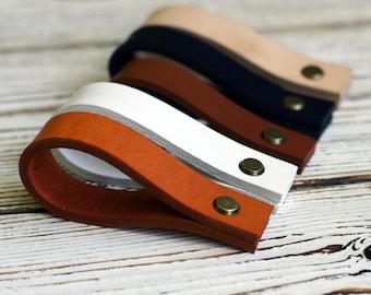Cabinet Handles / Door Pulls / Door Handles / Handles Cupboard / Leather Drawer  Pulls /