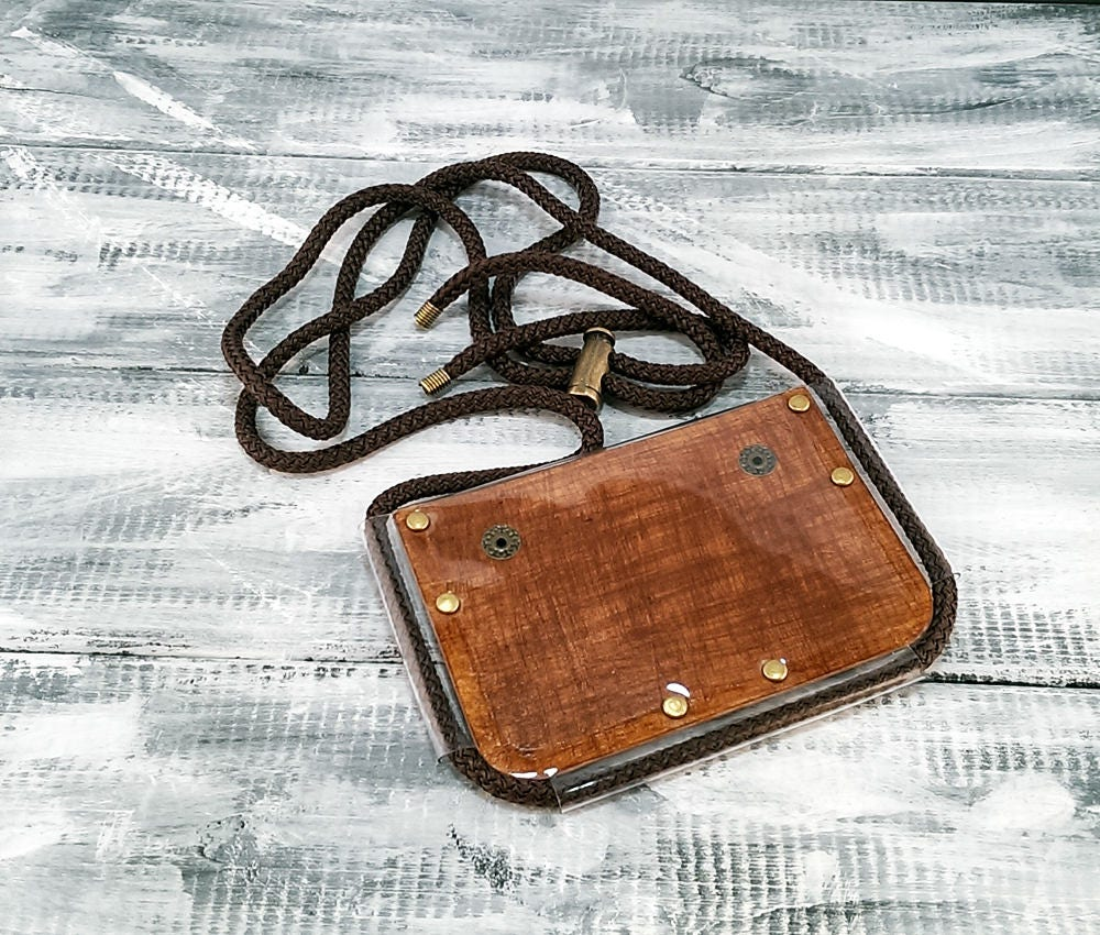 Gift for coworker / horizontal leather ID card holder for men ...