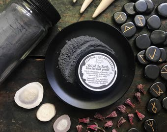 Charcoal Face Mask Powder / Detox Acne Treatment / Bentonite Clay Face Mask / Blackhead Buster / Calendula Lavender / Natural Skincare