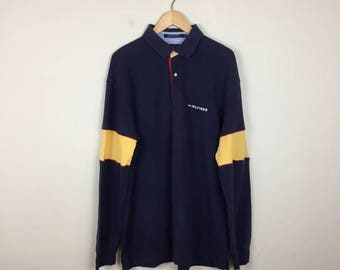 90s Tommy Hilfiger Polo, Tommy Hilfiger Shirt Size XL