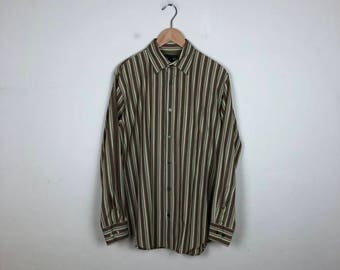 70s Striped Button Up Size Medium, Vintage Banana Republic Shirt