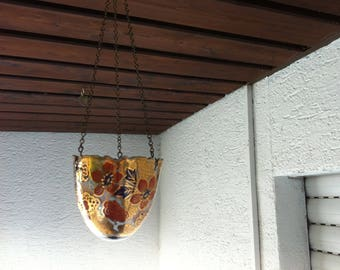 Vintage porcelain flower light pendant light pcrcelain ceramics and pottery painted