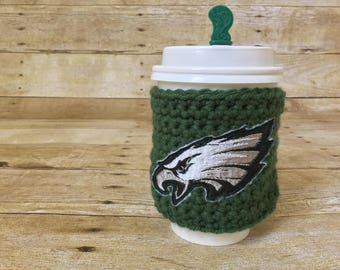 Philadelphia Eagles Cup Cozy - football, beer cozy, cup cozy, drink sleeve, nfl, philly, tailgate, fly eagles fly