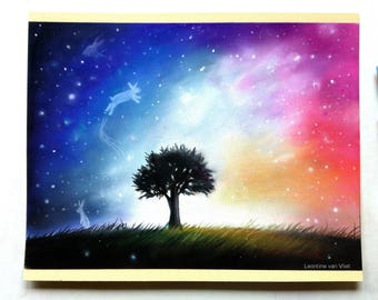 Surreal galaxy drawing | Soft pastels | Pastel pencils | Landscape | Artwork