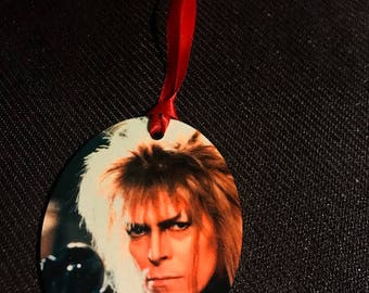 David Bowie Labyrinth Inspired Christmas Tree Ornament 2 Sided Can be Personalized NEW