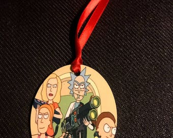 Mr. Meekseeks Rick Morty Inspired Christmas Tree Ornament 2 Sided Can be Personalized NEW style 7