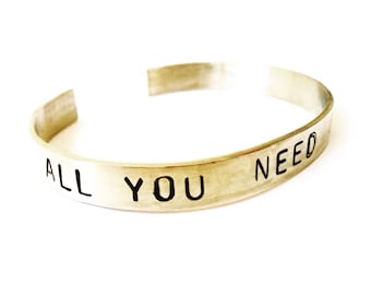 ALL YOU NEED Is Love fine gold plated