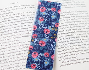 Rifle Paper Co. Navy Floral Bookmark