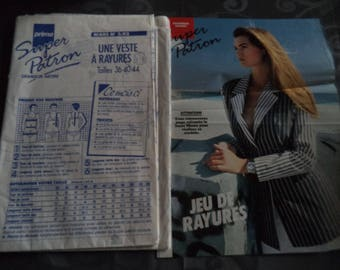 pattern jacket size 36-40-44 new uncut