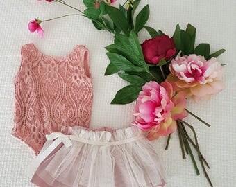 Gorgeous Lace Bodysuit and Tutu skirt.