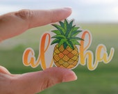 Aloha Sticker, Pineapple Sticker, Summer, Aloha, Aloha Pineapple, Laptop Decal, Car Sticker, Vinyl Sticker, Aloha Decal, Pineapple Decal