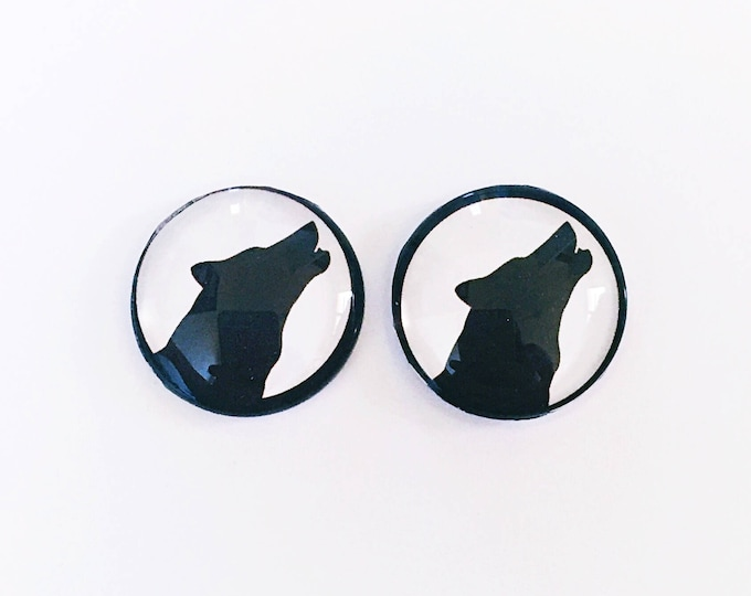 The 'Wolfgang' Glass Earring Studs