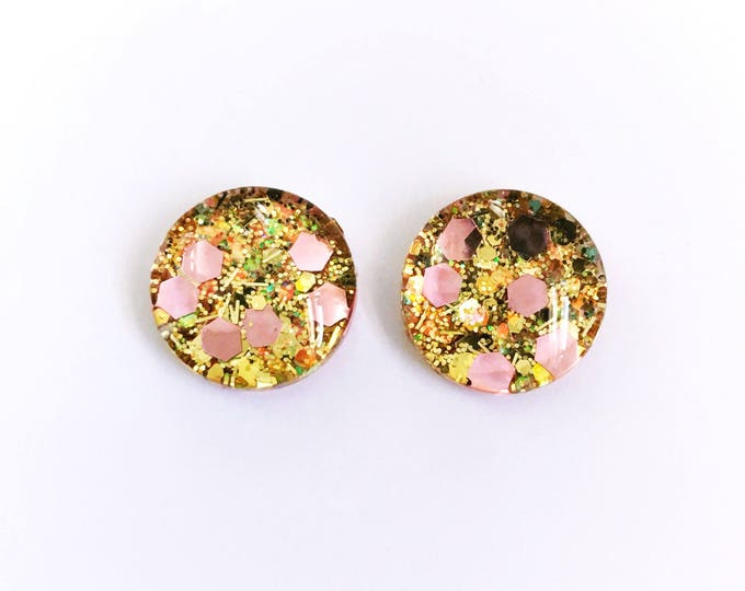 The 'Adore' Glass Glitter Earring Studs