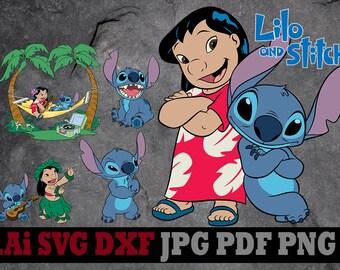 Lilo and Stitch svg, Lilo and Stitch clipart, Disney svg files, Disney clipart, digital files svg dxf png Ai pdf svg files for cricut