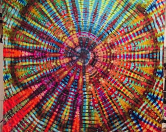 Tie dye tapestry 80x90 inches