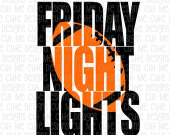 SVG DXF PNG cut file cricut silhouette cameo scrap booking Friday Night Lights Football