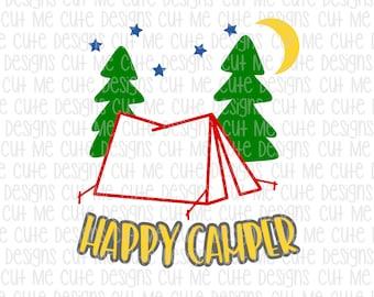 SVG DXF PNG cut file cricut silhouette cameo scrap booking Happy Camper Tent