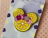 Flower and Garden Festival Violet Lemonade Minnie Mouse Flower crown hard enamel pin