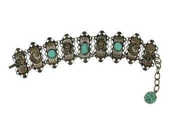 1960s Egyptian Inspired Vintage Bracelet
