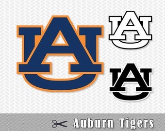 Auburn Tigers University Layered SVG PNG Cut Vector File Silhouette Cameo Cricut Design Template Stencil Vinyl Decal Tshirt Transfer Iron on