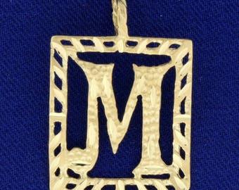 "Initial ""M"" Pendant in 14k Gold"
