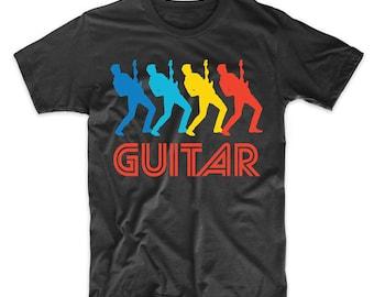 Guitarist Retro Pop Art Guitar Graphic T-Shirt