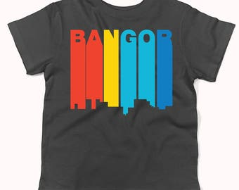 Retro 1970's Style Bangor Maine Skyline Infant / Toddler T-Shirt