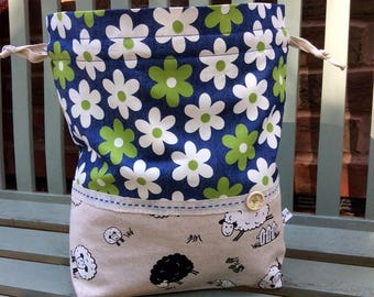 Daisy Sheep Project Bag