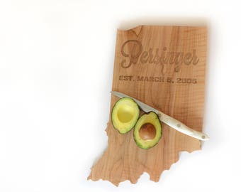 Personalized State Shaped Cutting Board / CHOOSE ANY STATE