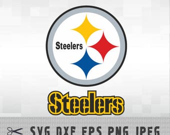 Pittsburgh Steelers SVG PNG DXF Eps Logo Vector Cut File Silhouette Studio Cameo Cricut Design Template Stencil Vinyl Decal Transfer Iron on