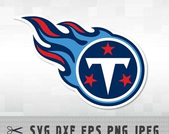 Tennessee Titans Layered SVG Dxf EPS Logo Vector File Silhouette Studio Cameo Cricut Design space Template Stencil Vinyl Decal Craft Tshirt